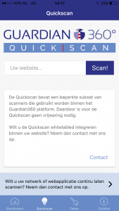 Guardian360 App quickscan