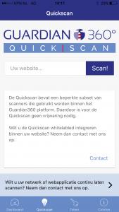 Guardian360 App quickscan